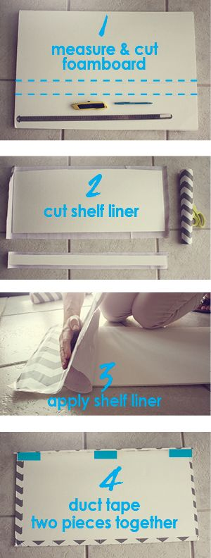 how to makeover wire shelves