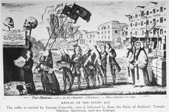 People became angry about being taxed and signed a petition that rejected the stamp act.