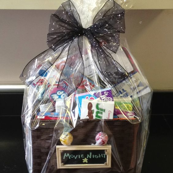 Wedding Night Basket Ideas: Movie Night Raffle Basket!