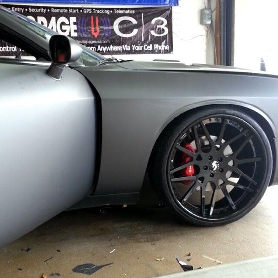 Video Dodge Challenger Srt8 Wrap Grey Red Interior Matte Black Wheels Pinterest Grey