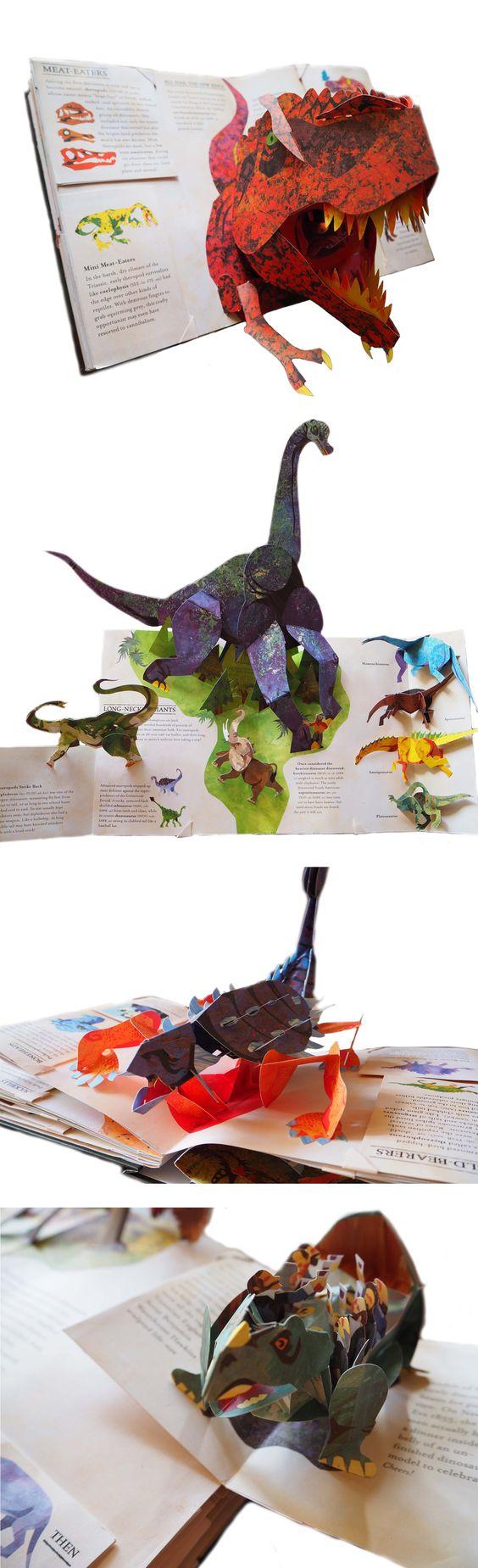 Энциклопедия Prehistorica Динозавры, Роберт Сабуда и Мэтью Рейнхарт Удивительные всплывающий книга: