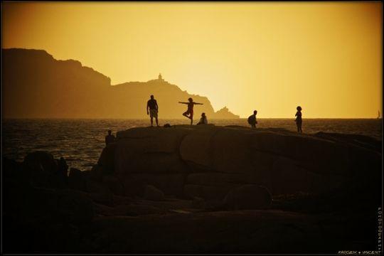 Qi Qong face au coucher de soleil