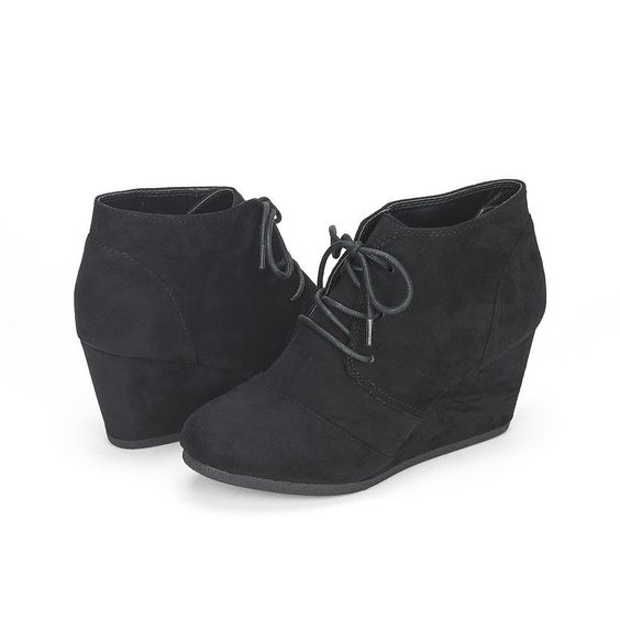 DREAM PAIRS Women's Fashion Casual Outdoor Low Wedge Heel Booties Shoes >> Special boots just for you. See it now! : Ladies boots