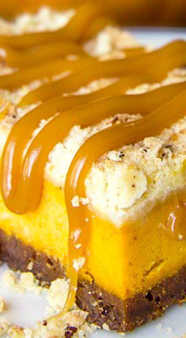 Pumpkin Cheesecake Bars with Gingersnap Crust (pumpkin desserts ...