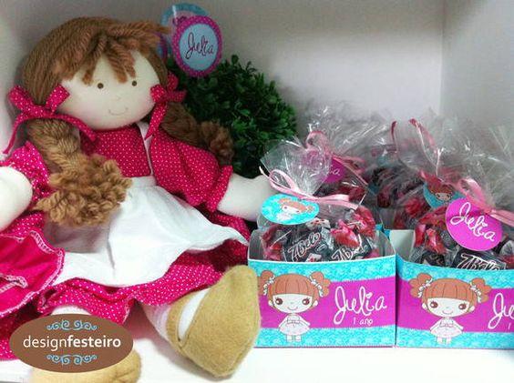 Caixinhas para doces Festa Boneca de Pano   Design Festeiro