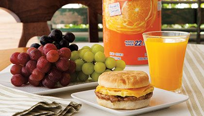Send the kids off with a healthy start.