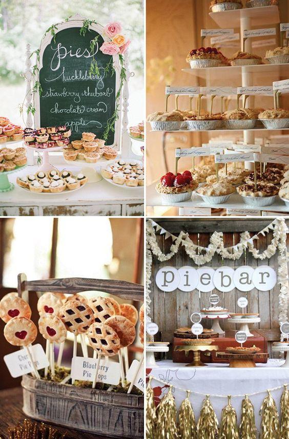 Tasty pie bars | See more great wedding food ideas on www.onefabday.com