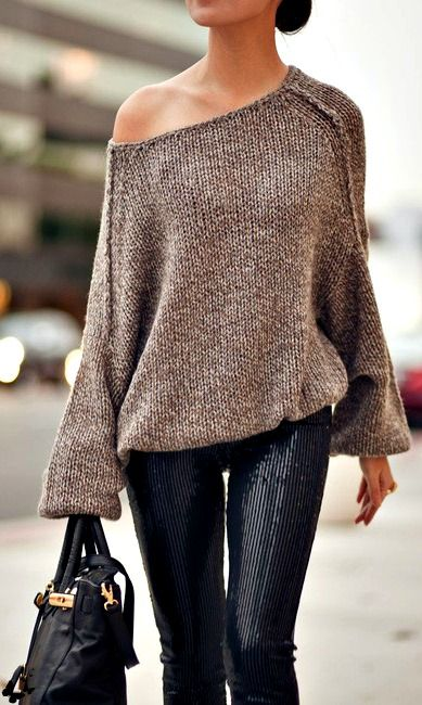 Sequin, leather and knit...who would've thought?