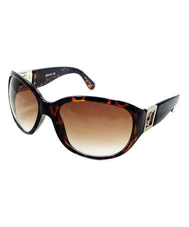 Take a look at this Brown & Black Tortoise Logo Sunglasses by Big Buddha on #zulily today!