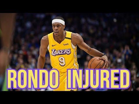 Rajon Rondo Injured Will Miss 6 8 Weeks For Los Angeles Lakers Nba Restart Youtube In 2020 Nba News Los Angeles Lakers Basketball Los Angeles Lakers
