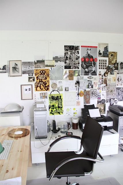 Dave's desk...where's Dave? by amy butler design, via Flickr