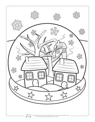 Winter Coloring Pages Goruntuler Ile Boyama Sayfalari Sanat Cizim
