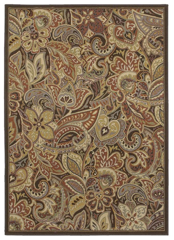 """HGTV Home Area Rug - style """"India"""" color Spice by Shaw"""