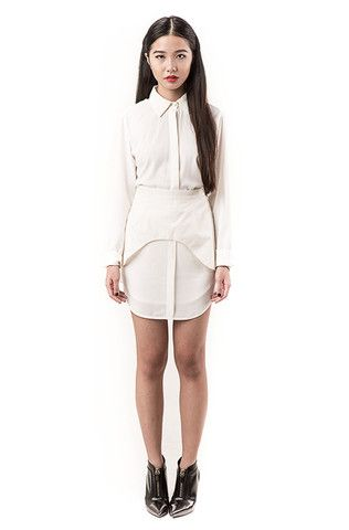 Dyre Shirt Skirt (White)