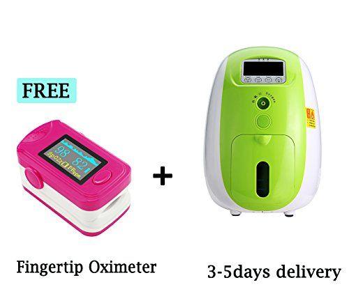 Zinnor 1l Portable Full Intelligent Home Use Oxygen Concentrator Generator 110v Air Purifier Oxygen Generator Fingertip Oximeter Spo2 Pr Monitor Oxygen Concentrator Oxygen Portable