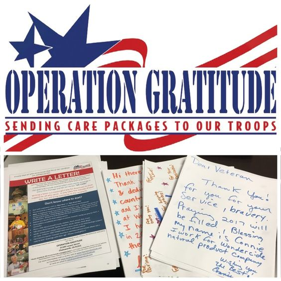 The team at Wondercide wrote letters of thanks and support to the troops!
