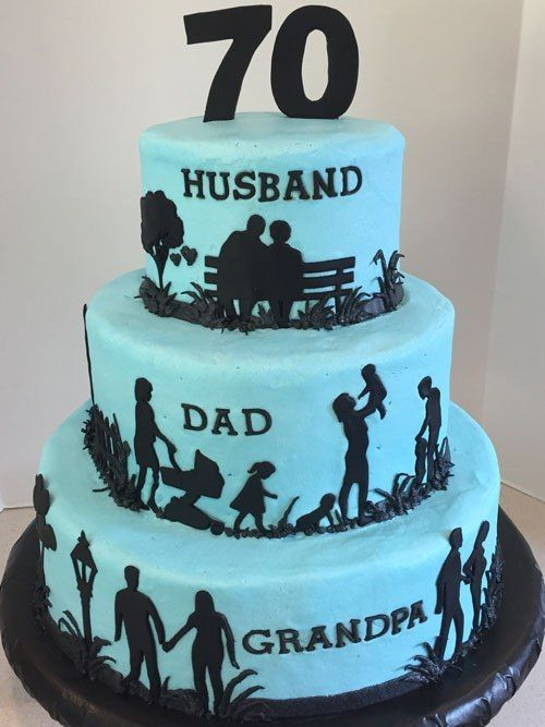 Excellent Husband Dad Grandpa Silhouette Birthday Cake With Images Birthday Cards Printable Opercafe Filternl