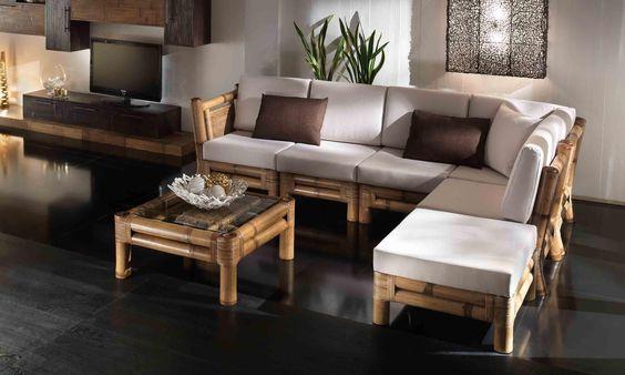 Salotto modulare Kyoto in bambù