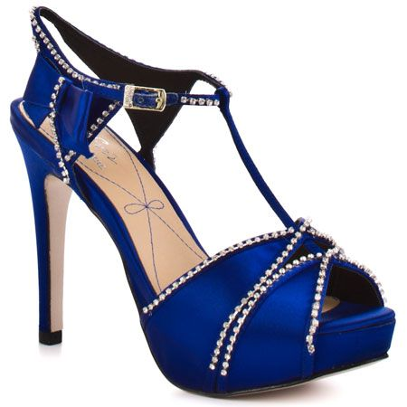 royal blue dress shoes for women | Blissa Royal Blue Satin ...