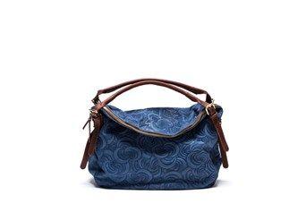 982d776174 Sac A Main Nubuck Bleu - Figaro