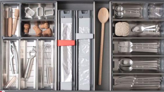 Rangement en cuisine 3 conseils gain de place et confort 2 3 lieux blog et cuisine for Astuce pour rangement