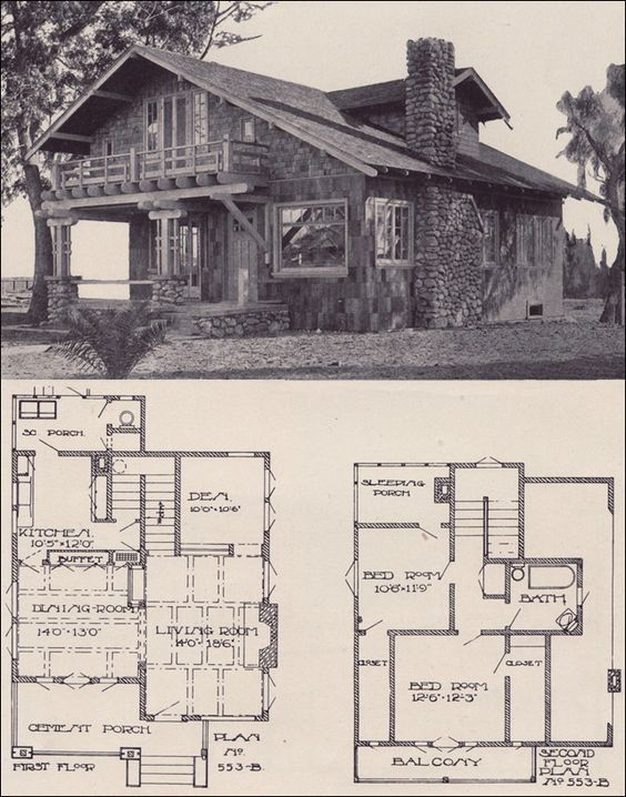 1912 Swiss Chalet Bungalow La Investment Co This Is My Fave So Far Complete With Sleeping Porch Beach House Plans Swiss House House Plans