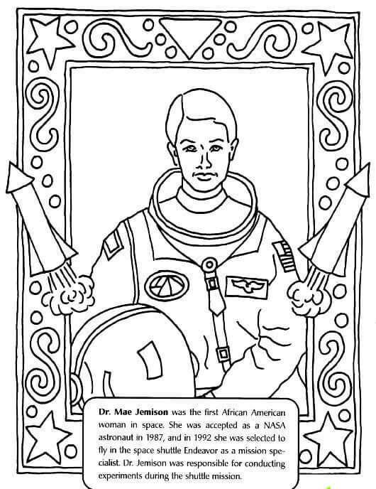 Black Month Coloring Pages Mae Jemison Black History Activities Black History Month Crafts Black History Inventors