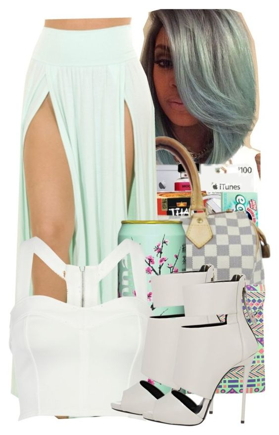 """MINT"" by jtia ❤ liked on Polyvore featuring Boohoo, River Island and Giuseppe Zanotti"