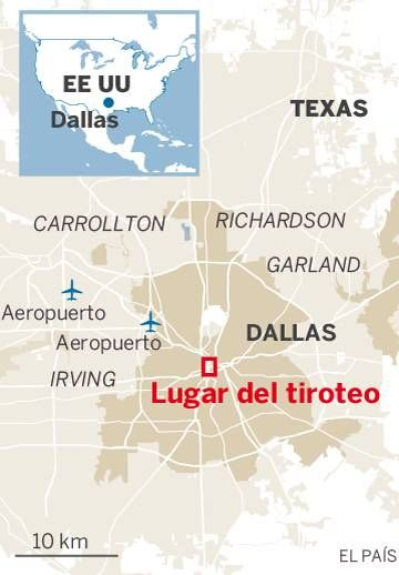 Cinco policiais são mortos em Dallas durante protesto contra violência racial: