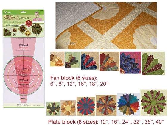 Traceable Quilting Templates : Clover Trace n Create Quilt Templates : Dresden #id13433 PATCHWORK, QUILTING // RULER ...