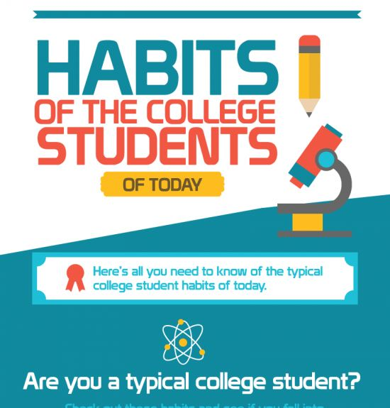 the habits of today s college students infographic education