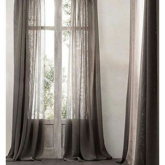 cortinas gasa de lino