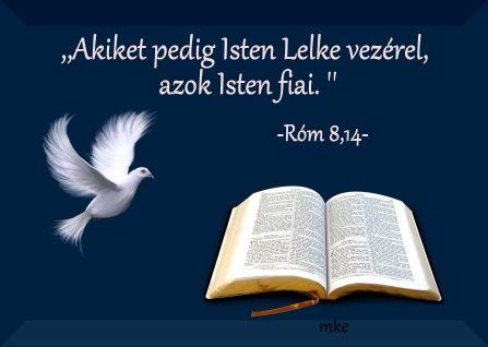 Akiket Isten  lelke vezérel...
