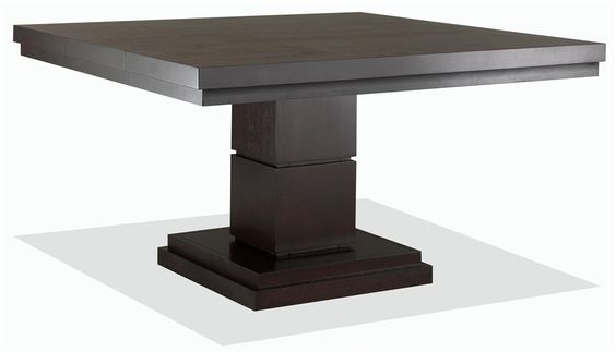 nikka dining table w square pedestal base and cherry. Black Bedroom Furniture Sets. Home Design Ideas
