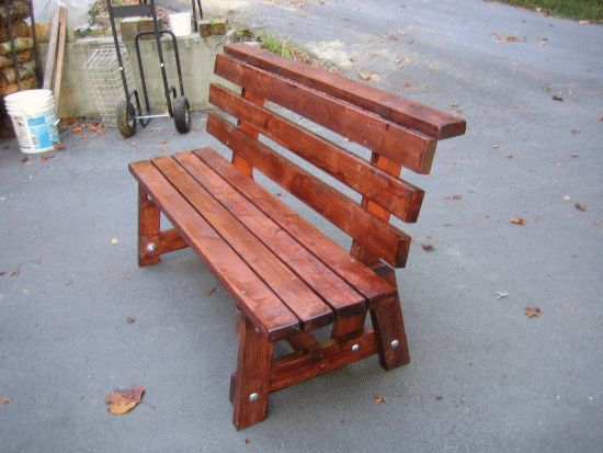 Outdoor Benches Workbenches And Bench Plans On Pinterest