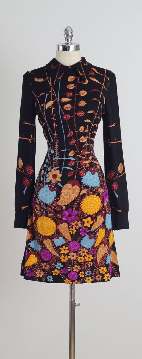 Fiori di Como . vintage 1970s dress . vintage dress . 5161 ...