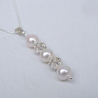 Handmade sterling silver and diamonte bridal jewellery #wedding #bride #bridesmaid #bridalparty #pearls #prom #beachwedding #weddingideas #gift ideas by flutterbiesltd