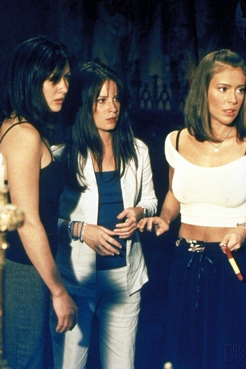 Prue, Piper and Phoebe. Is it weird that i know what episode this is from their clothes?: