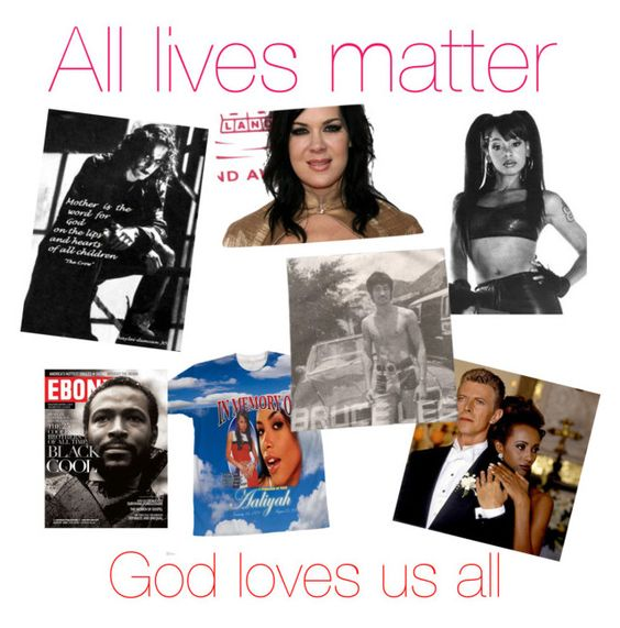 """""""All lives matter, not just one type of race"""" by princhelle-mack ❤ liked on Polyvore featuring art"""