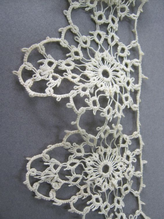 "Someone labeled this as ""Antique Crochet Lace Collection - Sarah Read's Blog"" It's tatting. Not crochet."