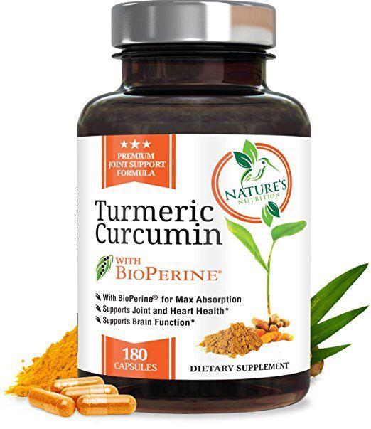 Nature S Nutrition Turmeric Curcumin Max Potency 180 Capsules Turmeric Curcumin Max Potency 3 Month Supply Turmeric Curcumin Bioperine Turmeric Nutrition