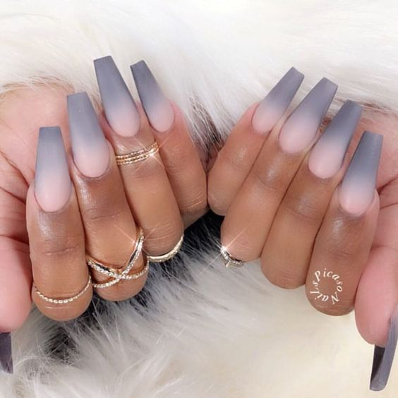 50 Gorgeous Ombre Matte Nail Designs You Will Love Ombre Acrylic