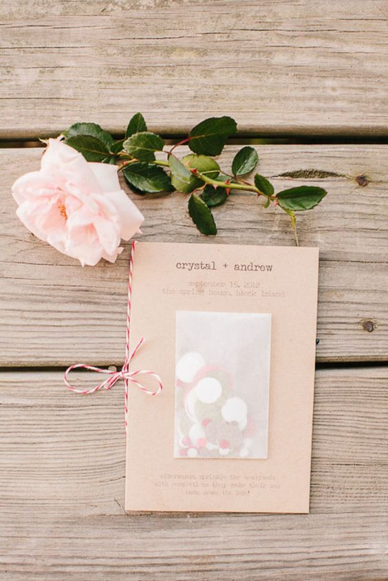 15 idee per usare i coriandoli per il vostro matrimonio