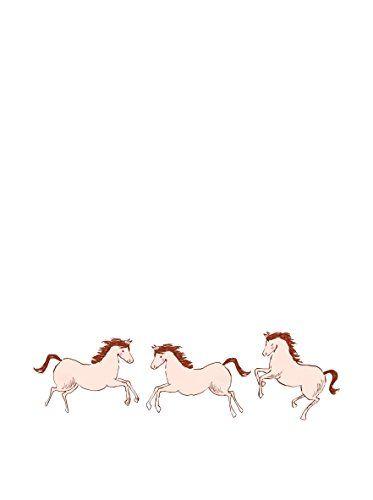 Pop & Lolli Kids' Medium 3-Piece Sara Jane Horses Wall Decal Set