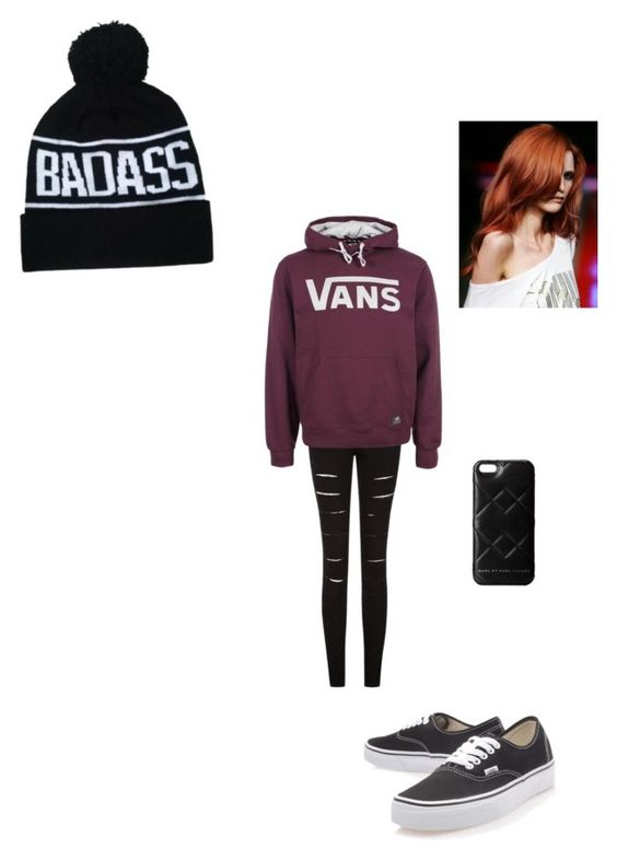 """Rayne!"" by samanthaducey ❤ liked on Polyvore featuring Vans and Marc by Marc Jacobs"