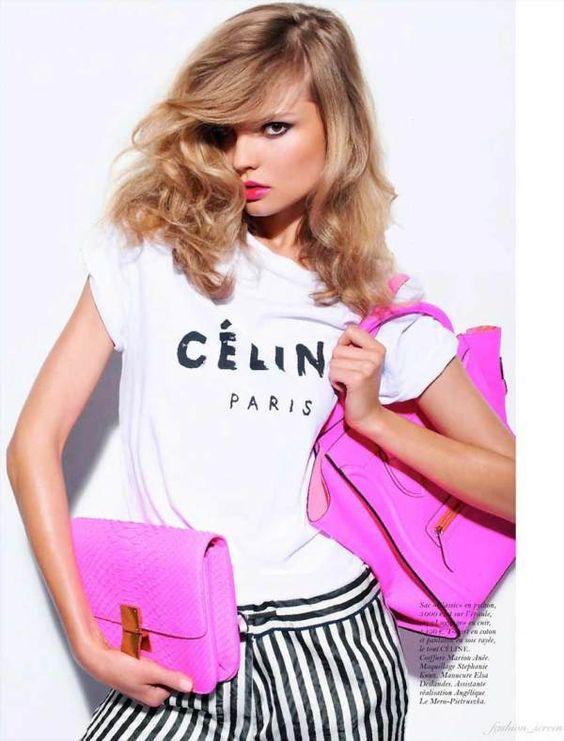 We love the pink celine box bag: