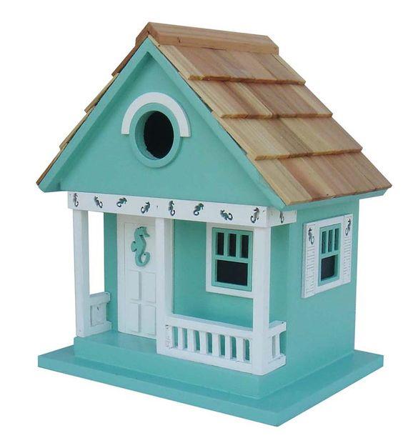 Wood Beach Cottage Birdhouse