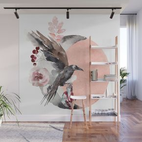 Buy Visions Of Crystal Eyed Ravens Wall Mural by sunnybunny. Worldwide shipping available at Society6.com. Just one of millions of high quality products available.