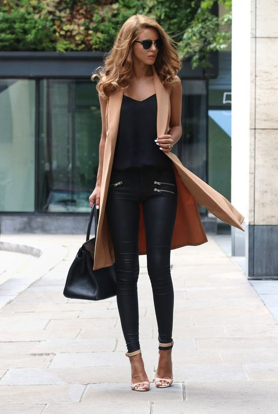 Approaching Fall the camel and black colours will take over this year. Nada AdelleWaistcoat: Missy Empire, Cami - River Island, Leather Pants: Quiz Clothing, Shoes: Zara, Bag - Hermes, Sunglasses: Asos