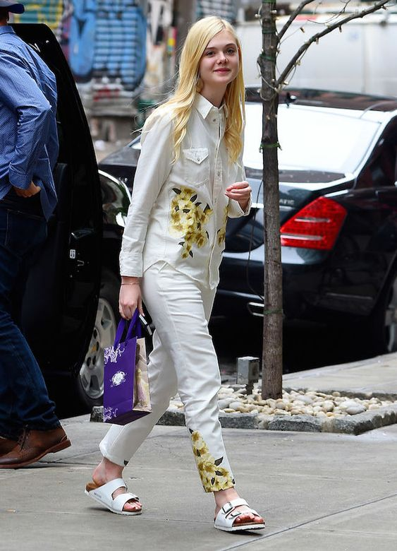 The Birkenstock Brigade: Who Wore It Best? | Elle Fanning